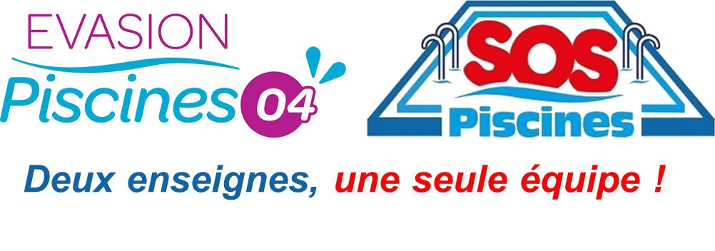 LOGO EVASION PISCINES 04 ET SOS PISCINES